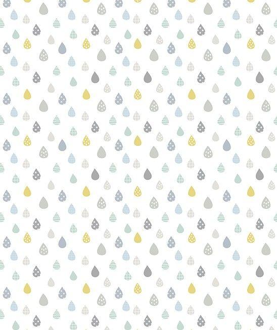 Papel pintado infantil Gotas de lluvia Lilipinso   Decoiluzion.com ...