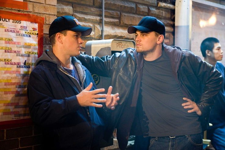 "Leonardo DiCaprio with Matt Damon (""The Departed"")"