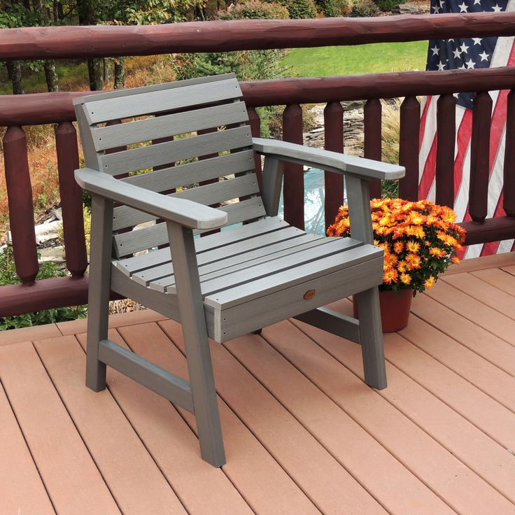 highwood® Weatherly Recycled Plastic Garden Lounge Chair | from hayneedle.com