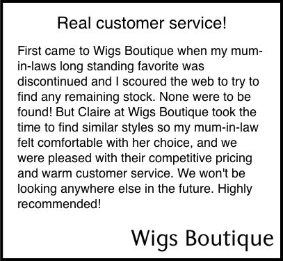 Another amazing review for @cmccormack22 and the Wigs Boutique team. #wigs #wig #wighelp #hair #hairstyles #hairtrends #hairfashion