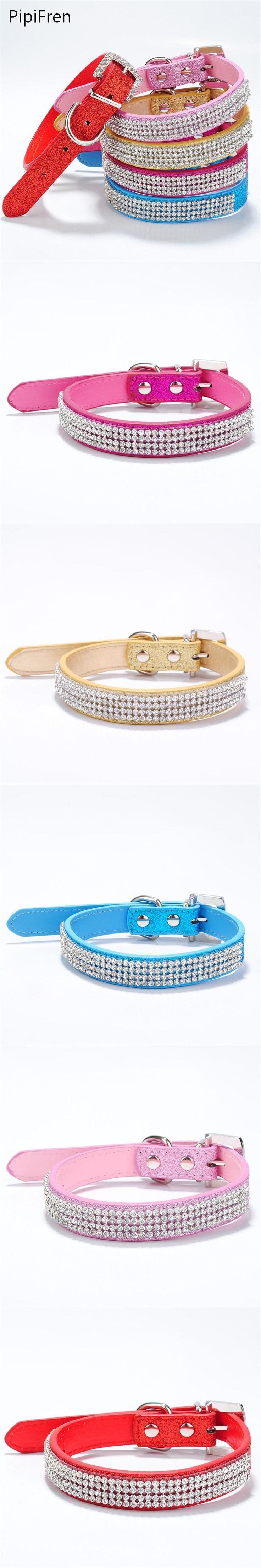 PipiFren Small Dogs Collars Rhinestone For Cat Collar Accessories Pets Puppy Supplies Chihuahua Collier chien honden halsband