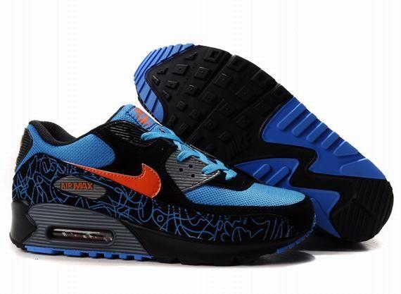 Nike Air Max 90 Blue Black Red