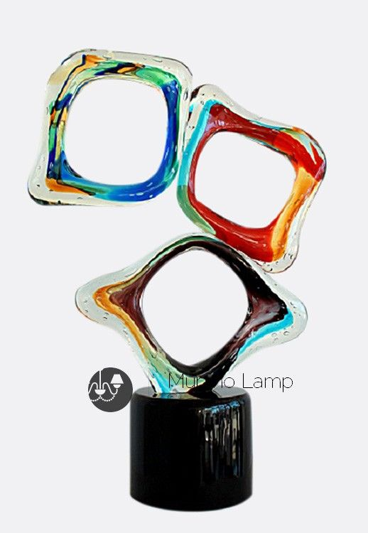 """Trittico"" #Murano #glass #sculpture #art #modern #design #venetian #handcrafted #Muranolampstore https://www.muranolampstore.com/en/murano-glass-sculpture-trittico"