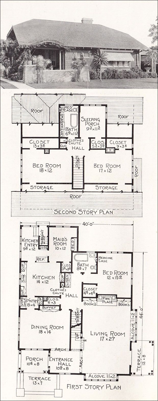 Best 25 vintage house plans ideas on pinterest bungalow for House plans with sleeping porch