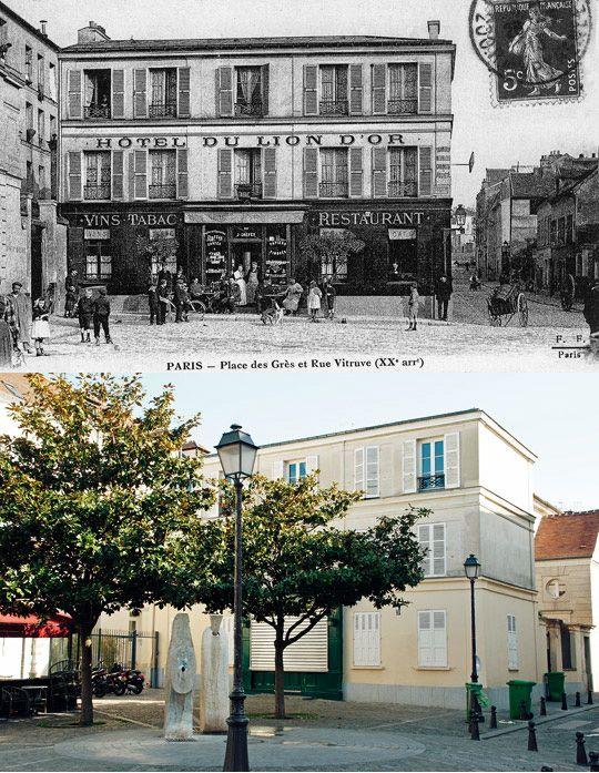 Hier et aujourd'hui / Place des Grès / Rue Vitruve / 75020 / Paris | Paris Est Villages