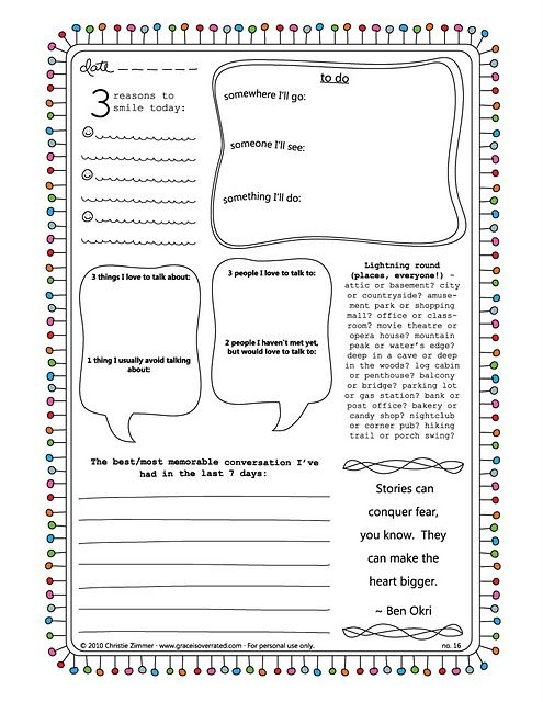 free journal pages
