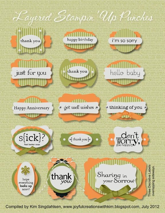 Stampin' Up! ~Great ideas for layering paper punch pieces
