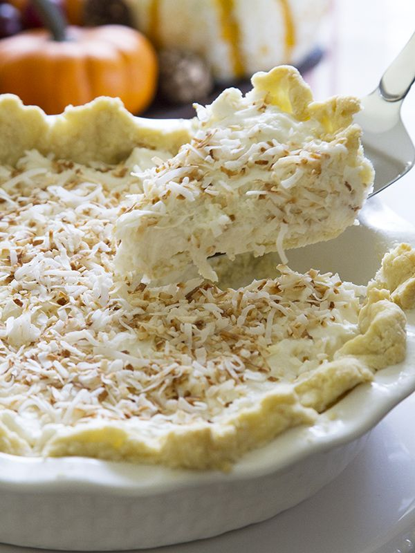The BEST holiday dessert - this Coconut Cream Pie will become a family favorite. #TuesdayMorning