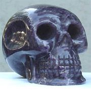 Origin: Mexico  Name: Ami  Amethyst crystal skull. This ancient skull was recently for sale.