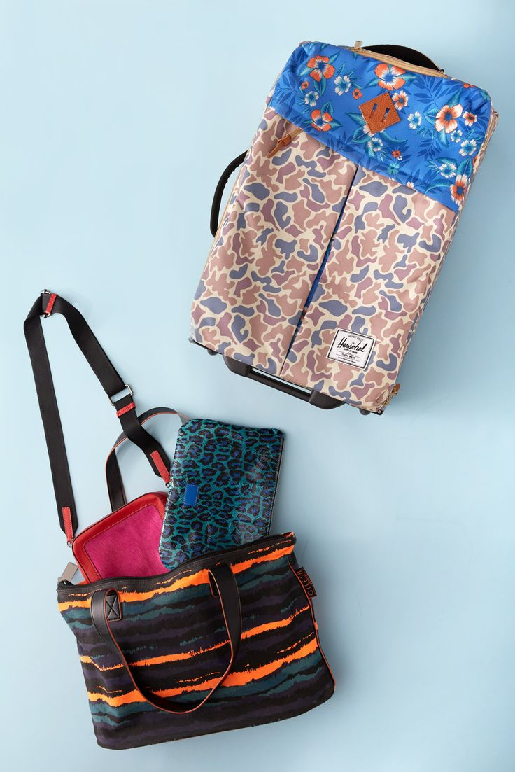 We Solve 3 Tricky Packing Challenges #refinery29  http://www.refinery29.com/packing-tips#slide2  Tip #2: Take advantage of your carry-ons.    Payless tote, Meredith Wendell clutch, and messenger bag.