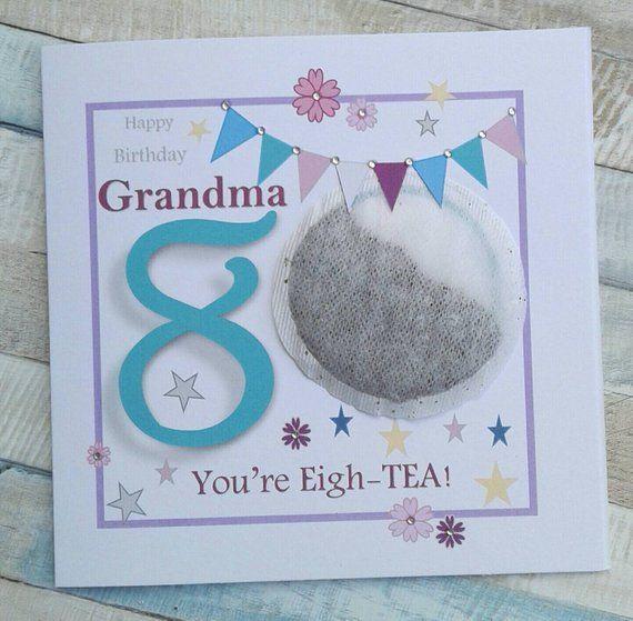 Personalised 80th Birthday Card Grandma 80th Birthday Card Etsy 80th Birthday Cards Birthday Cards 80th Birthday