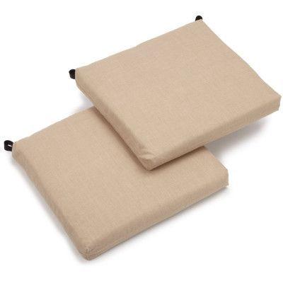 Blazing Needles Outdoor Chair Cushion Fabric: Sand Stone
