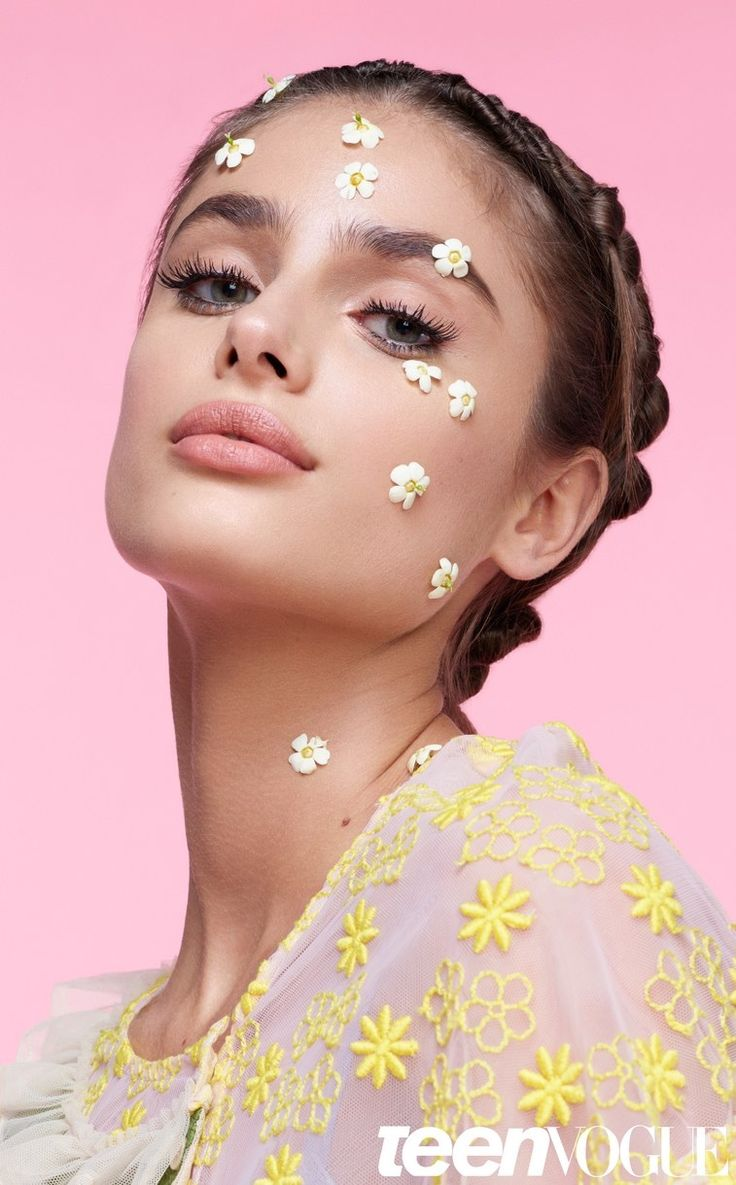 As the new face of Lancome, Taylor Hill lends her gorgeous looks to the pages of Teen Vogue's Love Issue. The top model wears bold spring makeup looks with a whimsical spin. Photographed by Daniel Sannwald, Taylor looks pretty in pastels with bold eyelashes and floral embellishments. Stylist Zara Zachrisson selects statement-making tops and dresses …