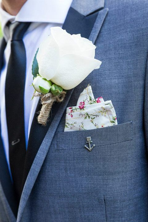 rose buttonhole by Lovely Bridal Blooms