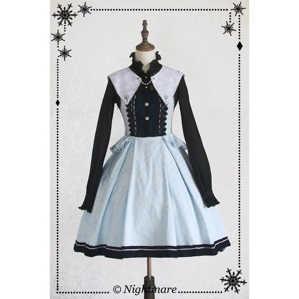 【取り寄せ】Merry Krampus 襟付きジャンパースカート Nightmare|ナイトメア