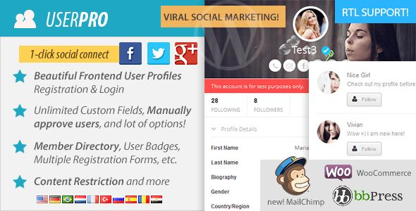 UserPro v2.69  User Profiles with Social Login WP Plugin