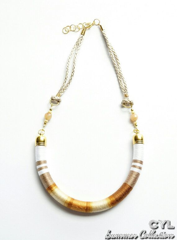 Thread wrapped white and brown ombre rope by ColoursYouLike, £35.00