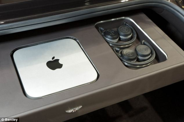 A special compartment in the boot holds a Mac which controls the system, and special Bentley wireless headphones