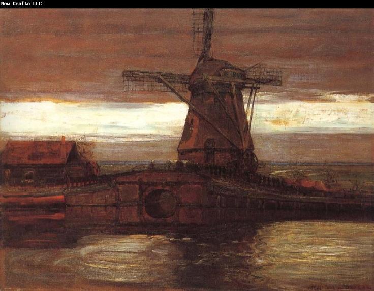 Mondrian.  I love his windmill paintings.