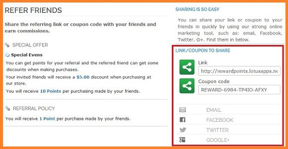 Loyalty system and Referral Program
