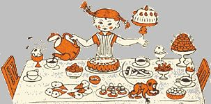 Pippi Longstocking - Original illustration by Ingrid Van Nyman (in my favourite less coloured version)