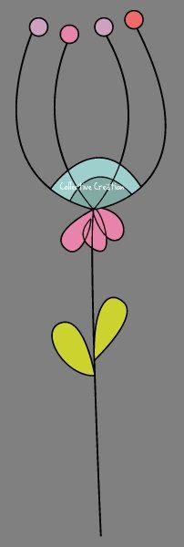 Doodle flores Digital Clipart Set perfecto por CollectiveCreation