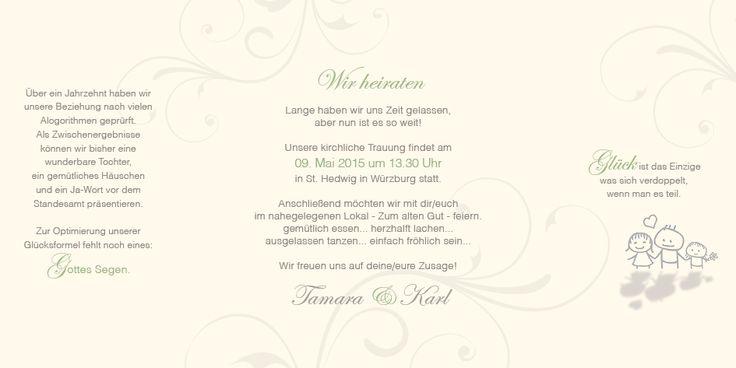 Seite 3, 4 und 5 (Innenseiten). Durch Ihre Texte werden die Hochzeitseinladungen sehr persönlich. Tipp: Im Servicebereich finden Sie weitere Comic - Familien oder - Paare. Ihre Familie als Hochzeits Comic - ein ganz besonderer Eyecatcher!