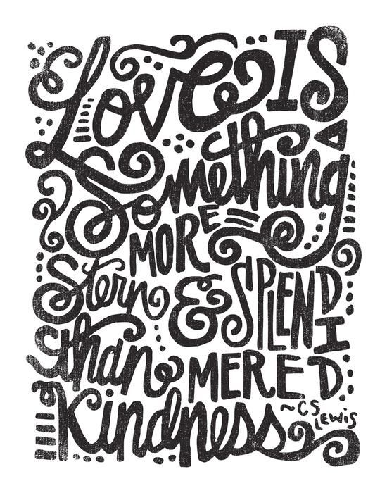 LOVE IS MORE STERN SPLENDID By Matthew Taylor Wilson Motivationmonday Print Inspirational Black White Poster