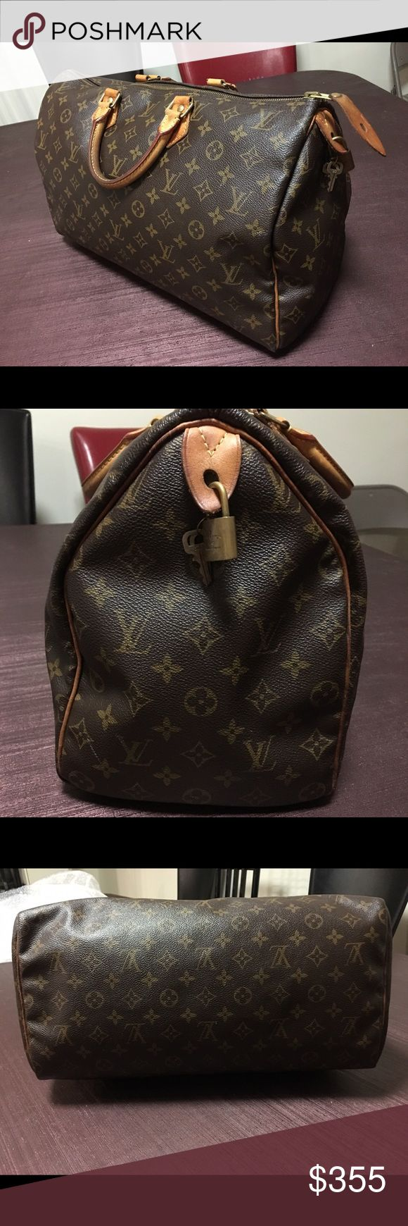 Louis Vuitton Monogram Speedy 40 Nice large Speedy in good condition. Minor scuffs at the edges. The canvas is in excellent condition, and the zipper runs smoothly. Comes with lock and key. All lowball offers will be ignored!!! Louis Vuitton Bags Satchels