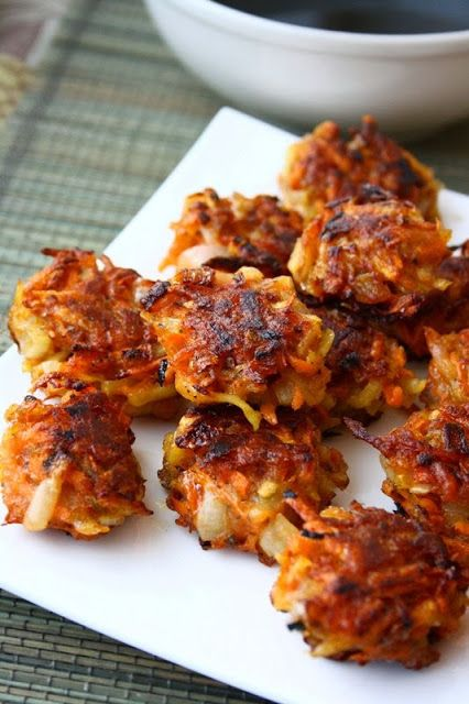 Crispy Vegetable Fritters with Spicy Balsamic Sauce