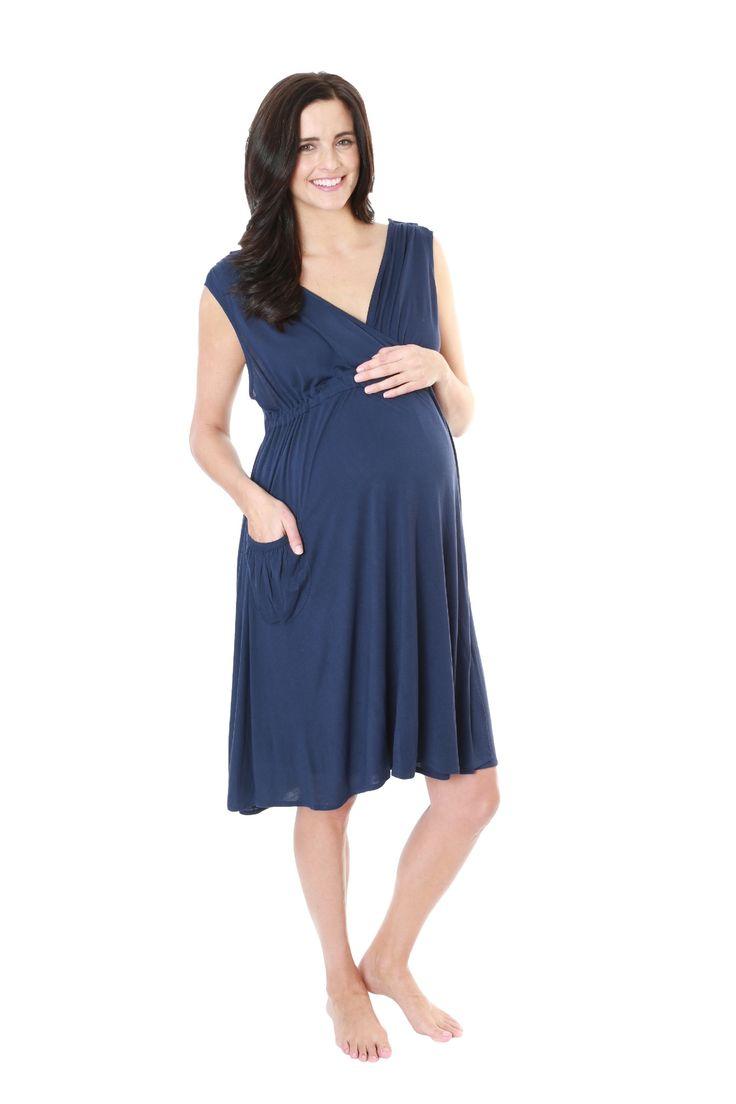 Endless Blue 3 in 1 Labor Gown