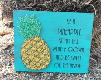 String Art string art Pineapple Pineapple String by GrizzlyandCo