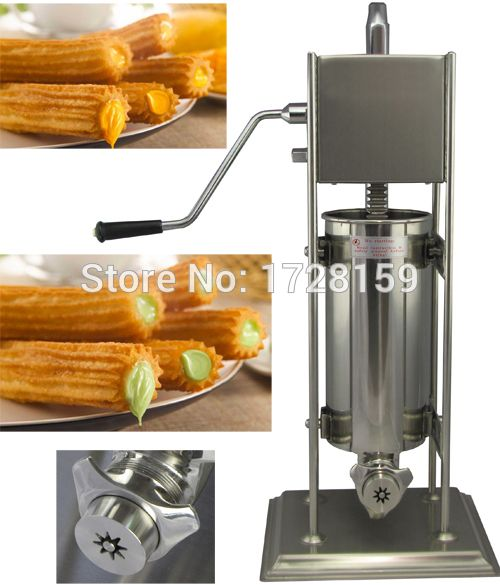 Economical commercial 3L 5L 7L 10L 15L Stainless Steel Manual Spanish Churros Maker Machine churros filling machine