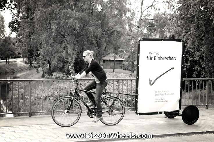 Ads on bikes in Germany with AdBicy - the best mobile billboard for bikes..