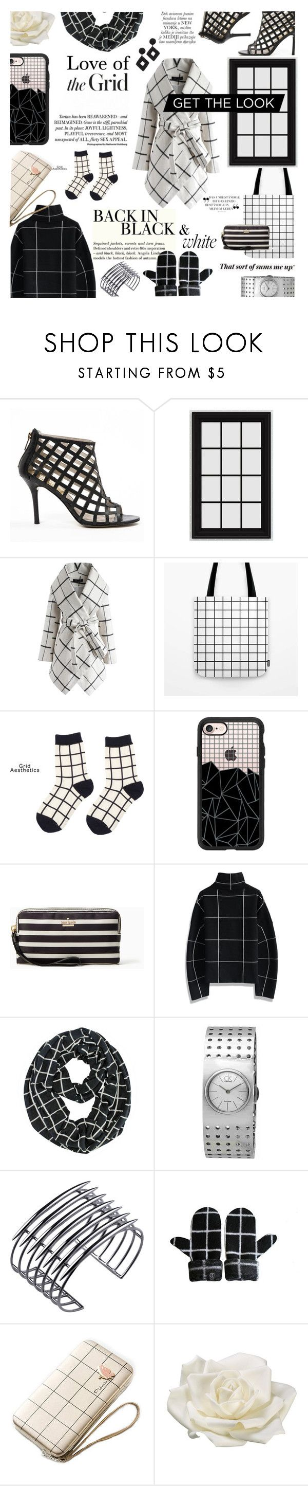 """black&white"" by ezgi-g ❤ liked on Polyvore featuring MICHAEL Michael Kors, Chicwish, Casetify, Calvin Klein, H&M, Shaun Leane, Giannina Capitani, Allstate Floral, Kenneth Jay Lane and blackandwhite"