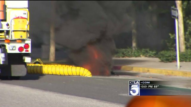 Thousands Without Power in Long Beach After Underground Electrical Fire Sends Manhole Covers Into Air | KTLA
