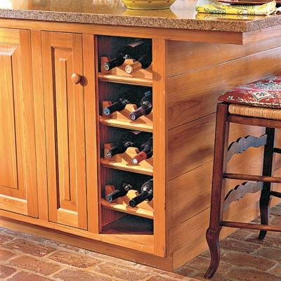 Make Space For Wine Bottles By Removing The Door On A Base