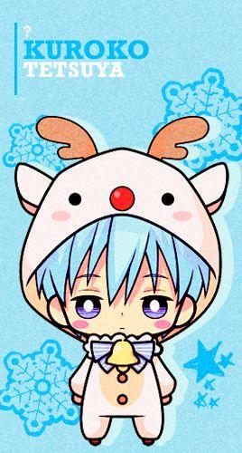 Kuroko Reindeer Chibi - Cuteeee >w<