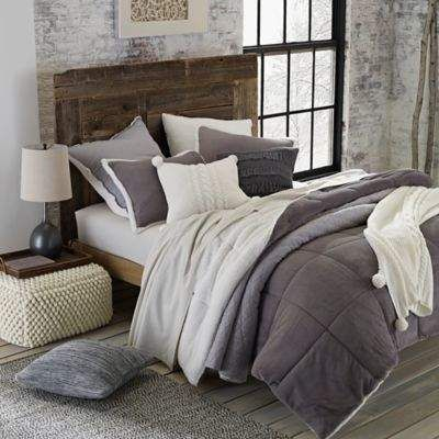 UGG® Hudson Reversible 2-Piece Twin Comforter Set in Grey #affiliate