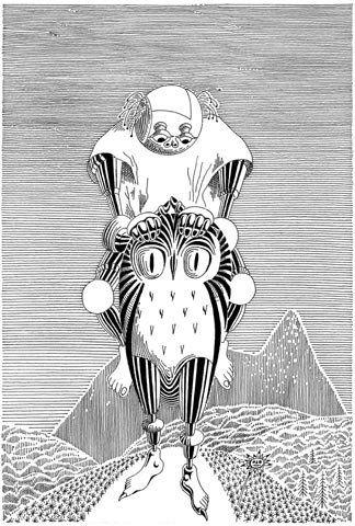 """Daniel Mróz, ilustracja - """"Bajki robotów"""" St.Lema"""