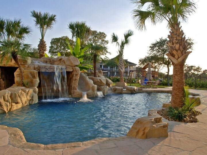 Rico Rock Grotto Amp Slide Blue Haven Pools San Antonio