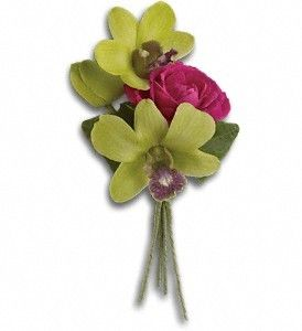 Order Orchid Celebration Boutonniere T202-1A from FDH Flowers, your local Houston florist. Send Orchid Celebration Boutonniere T202-1A for fresh and fast flower delivery throughout Houston, TX area.