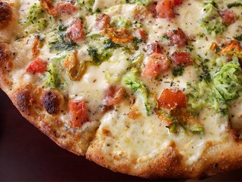 Fior di Zucca (zucchini blossom) pizza