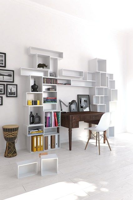Bookshelf Desk   Bookshelf Ideas   Living Room U0026 Study Design Ideas  (EasyLiving.co
