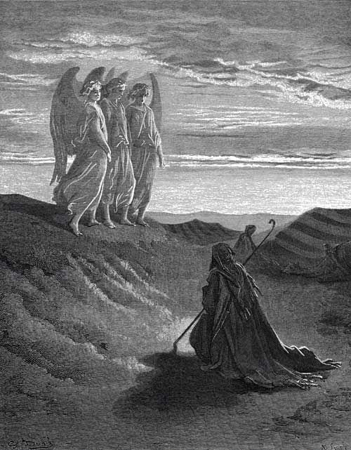 Three Visitors, by Gustav Doré