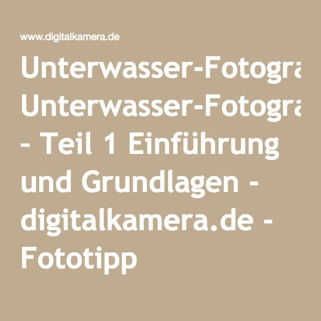 Unterwasser-Fotografie – Teil 1 Einführung und Grundlagen - digitalkamera.de - Fototipp