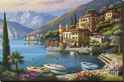 Villa Bella Vista Stretched Canvas Print by Sung Kim at Art.com