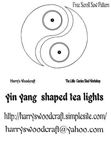 Free Scroll Saw Pattern  yin yang  shaped tea lights
