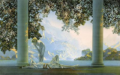 Hey, I found this really awesome Etsy listing at https://www.etsy.com/listing/213747267/maxfield-parrish-daybreak-1922-oil