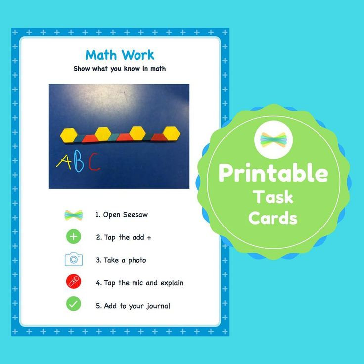 Check out this math work task card for your classroom and get going with Seesaw!…